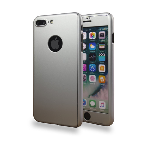 360° Extreme Snap On Protective Case For iPhone 7/8 Sliver