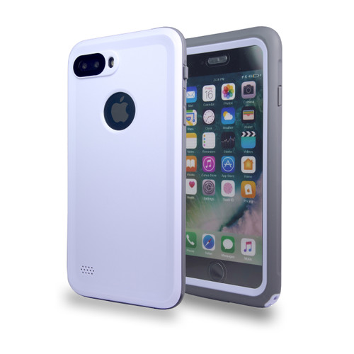 Waterproof Heavy Duty Guard Case For iPhone 7/8 Plus White-Gray