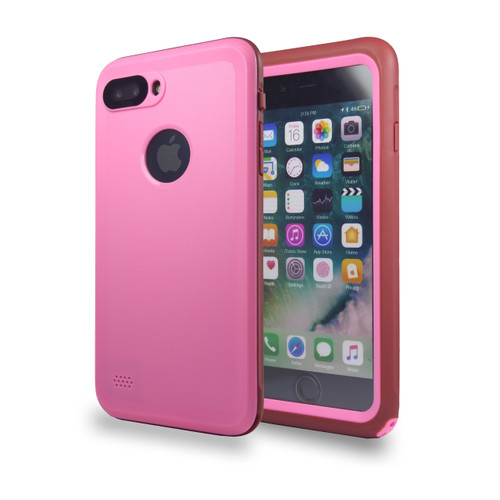 Waterproof Heavy Duty Guard Case For iPhone 7/8 Plus Pink-Burgundy