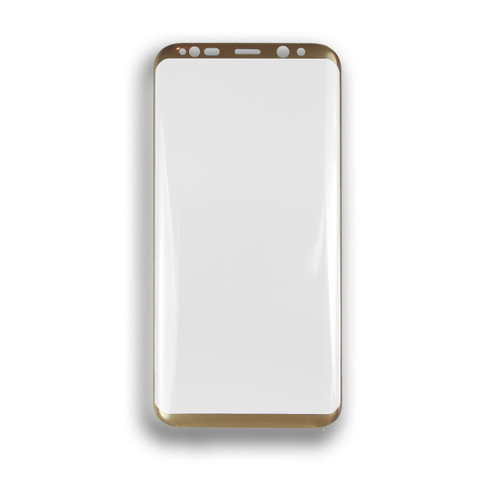 3D Premium 9H Tempered Glass Screen Protector for Samsung S8 Plus Clear-Gold