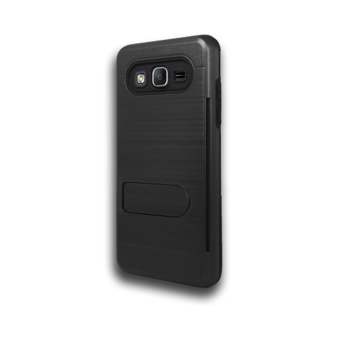 ID Ultrathin Hybrid Case with Kickstand for LG K20 Black