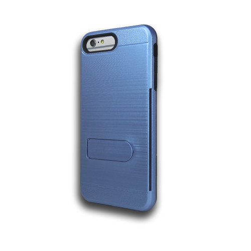 ID Ultrathin Hybrid Case with Kickstand for LG K20 Blue