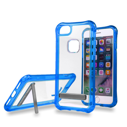 Mado Skin Case with Kickstand for Samsung S8 Plus Clear-Blue