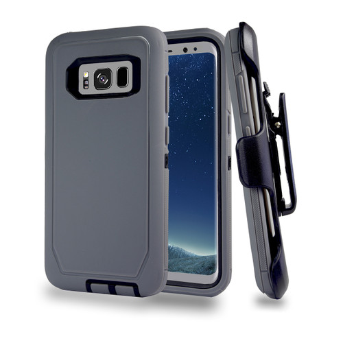 Sports Guard Case with Holster Combo for Samsung Galaxy S8 Gray-Black