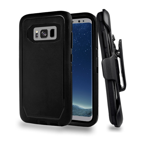 Sports Guard Case with Holster Combo for Samsung Galaxy S8 Plus Black-Black
