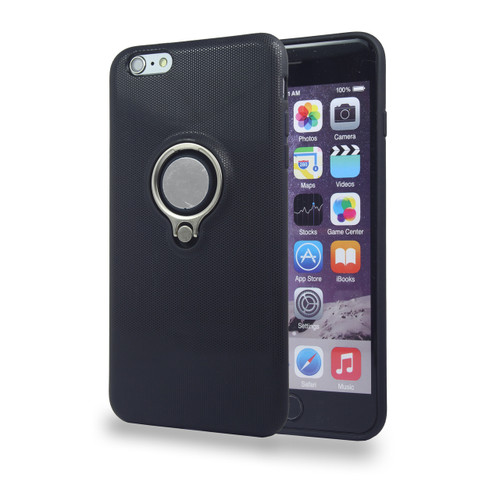 Coolring Skin Case with Kickstand for iPhone 5   5s Black