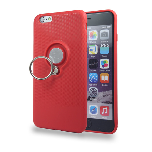 Coolring Skin Case with Kickstand for iPhone 6 Red