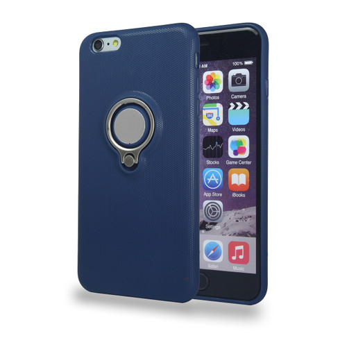 Coolring Skin Case with Kickstand for iPhone 6 Plus Navy