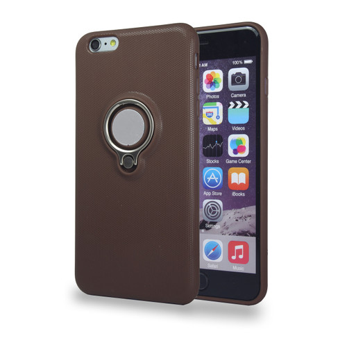 Coolring Skin Case with Kickstand for iPhone 6 Plus Brown