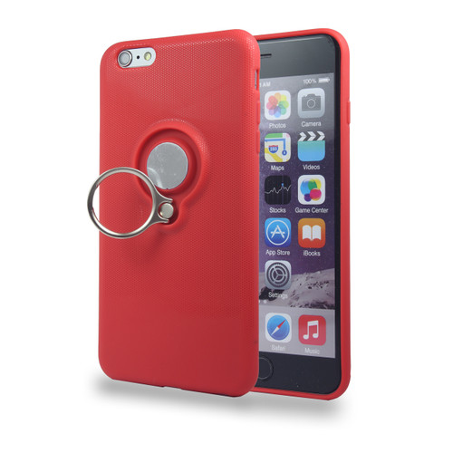 Coolring Skin Case with Kickstand for iPhone 7/8 Red