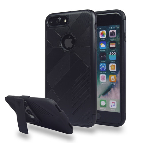Avant Guard Case with Holster Combo for iPhone 7/8 - Black-Black