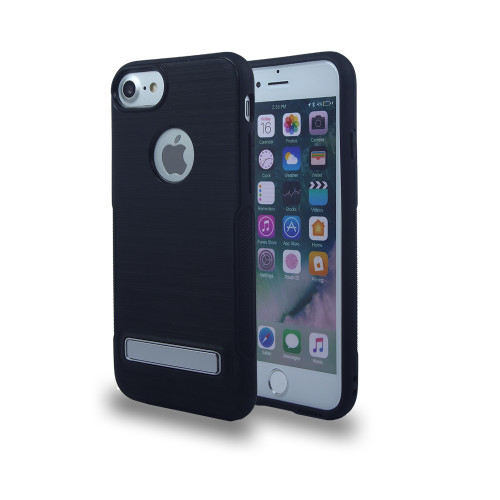 Noskid Skin Case with Kickstand for J7 2017 Black