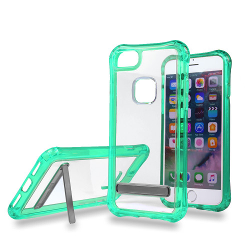 Clear case for iPhone 10 green