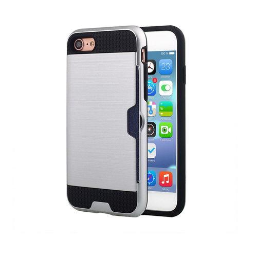 Credit case for iPhone 10 Silver