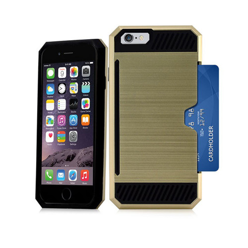 Credit case for iPhone 10 Gold