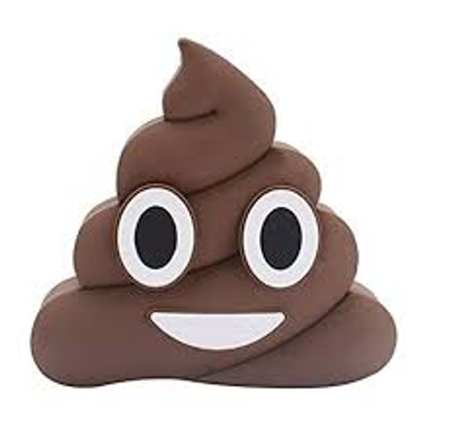 Emoji power bank poop