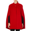 Cashmere Blended Cape, Red