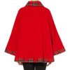 Tartan Trim Cape, Royal Stewart