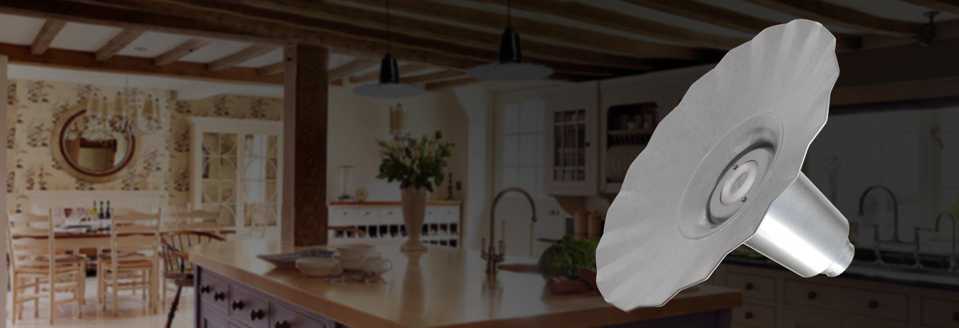 Customizable Iris Indoor LED Barn Pendant Light weatherproof