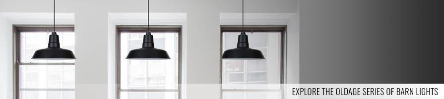 black oldage pendant lights on a ceiling