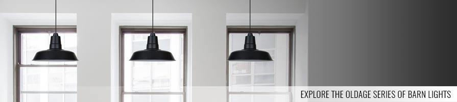 black oldage pendant lights on a ceiling