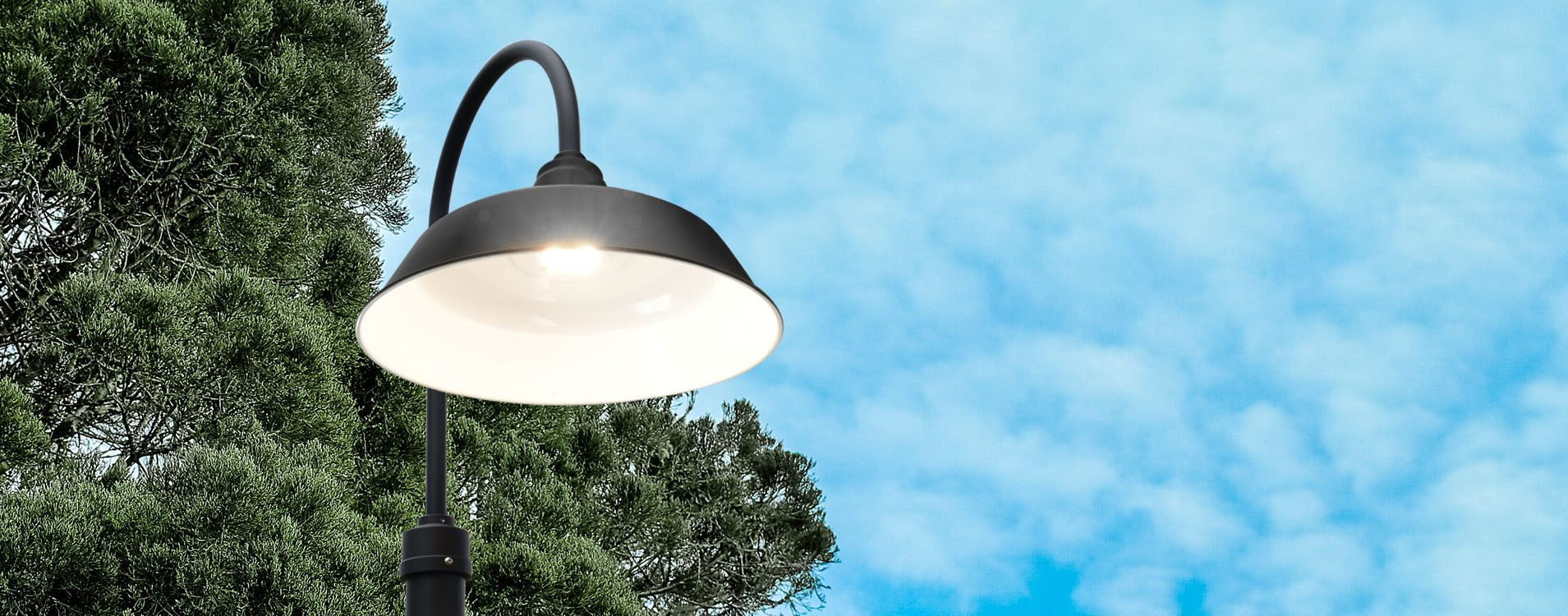 Customizable Goodyear LED Barn Lamp Post weatherproof