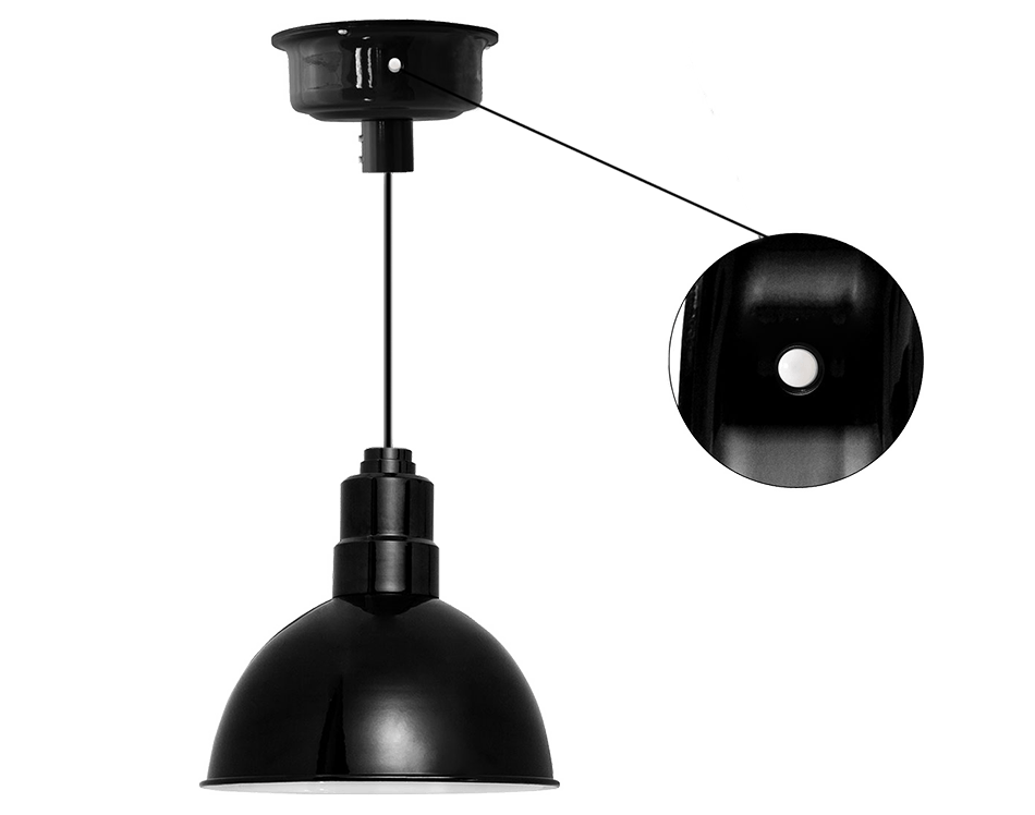 Motion sensored led barn pendant