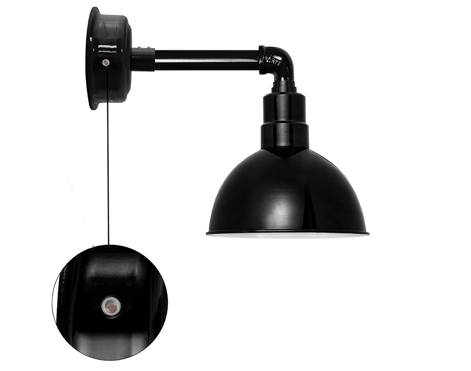 blackspot barn sconce with dusk to dawn photocell