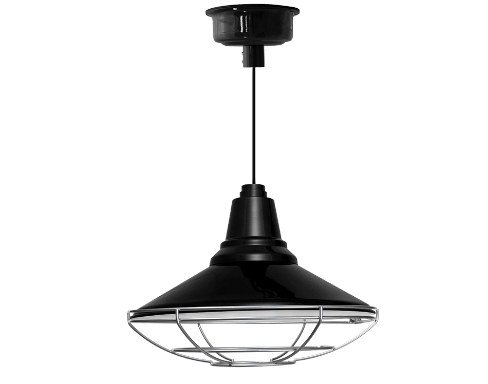 Calla barn pendant led light with cage