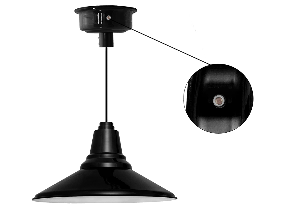 dusk to dawn photocell led barn pendant light