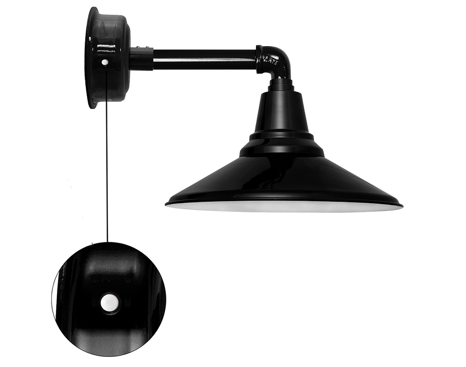 calla barn sconce light with motion sensor