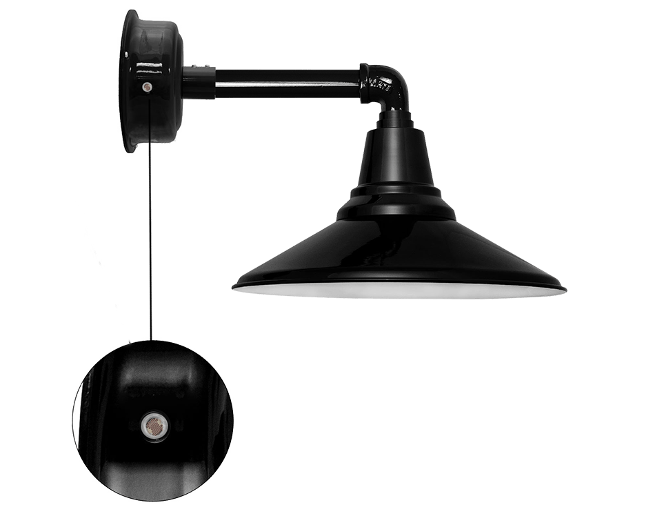 calla barn sconce light with dusk to dawn photocell