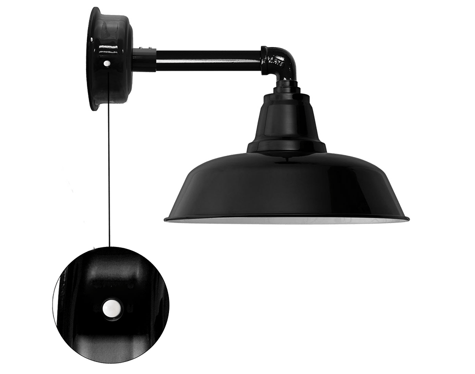 goodyear led barn sconce with motion sensor