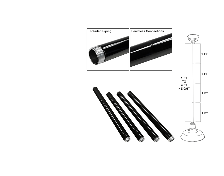 pendant downrod chart from cocoweb