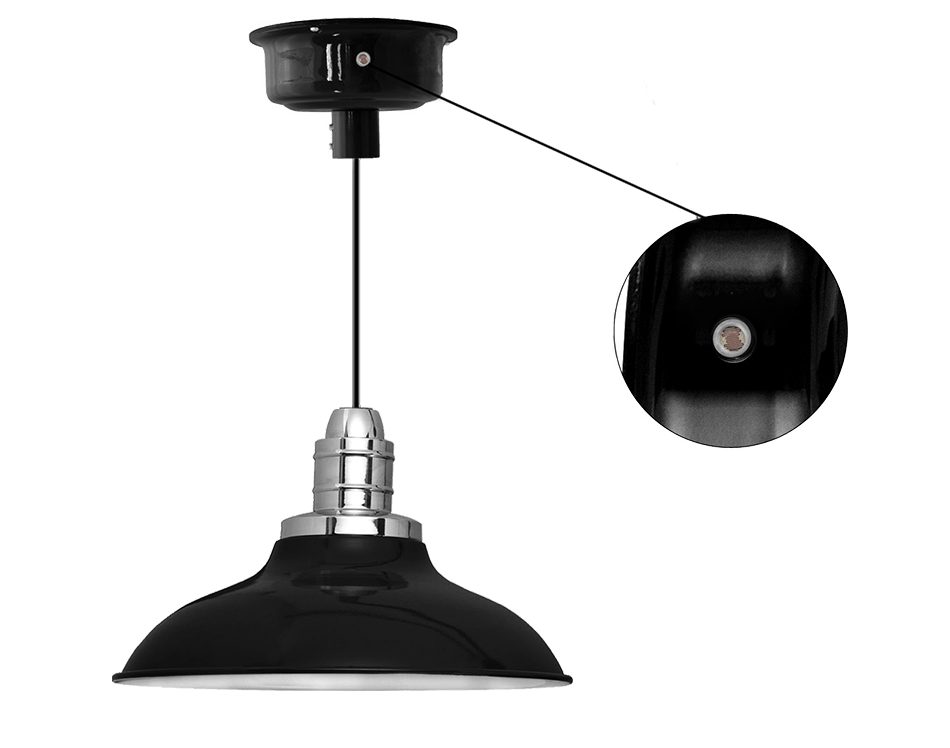 Dusk till dawn photocell led pendant light with peony shade