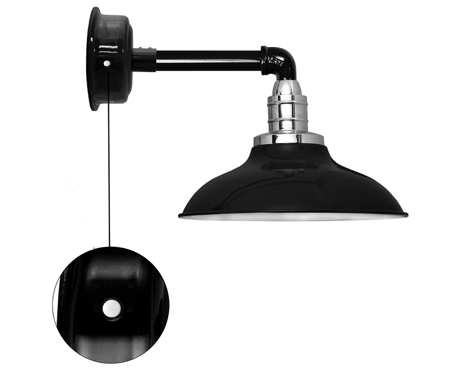Peony barn sconce motion sensored led light
