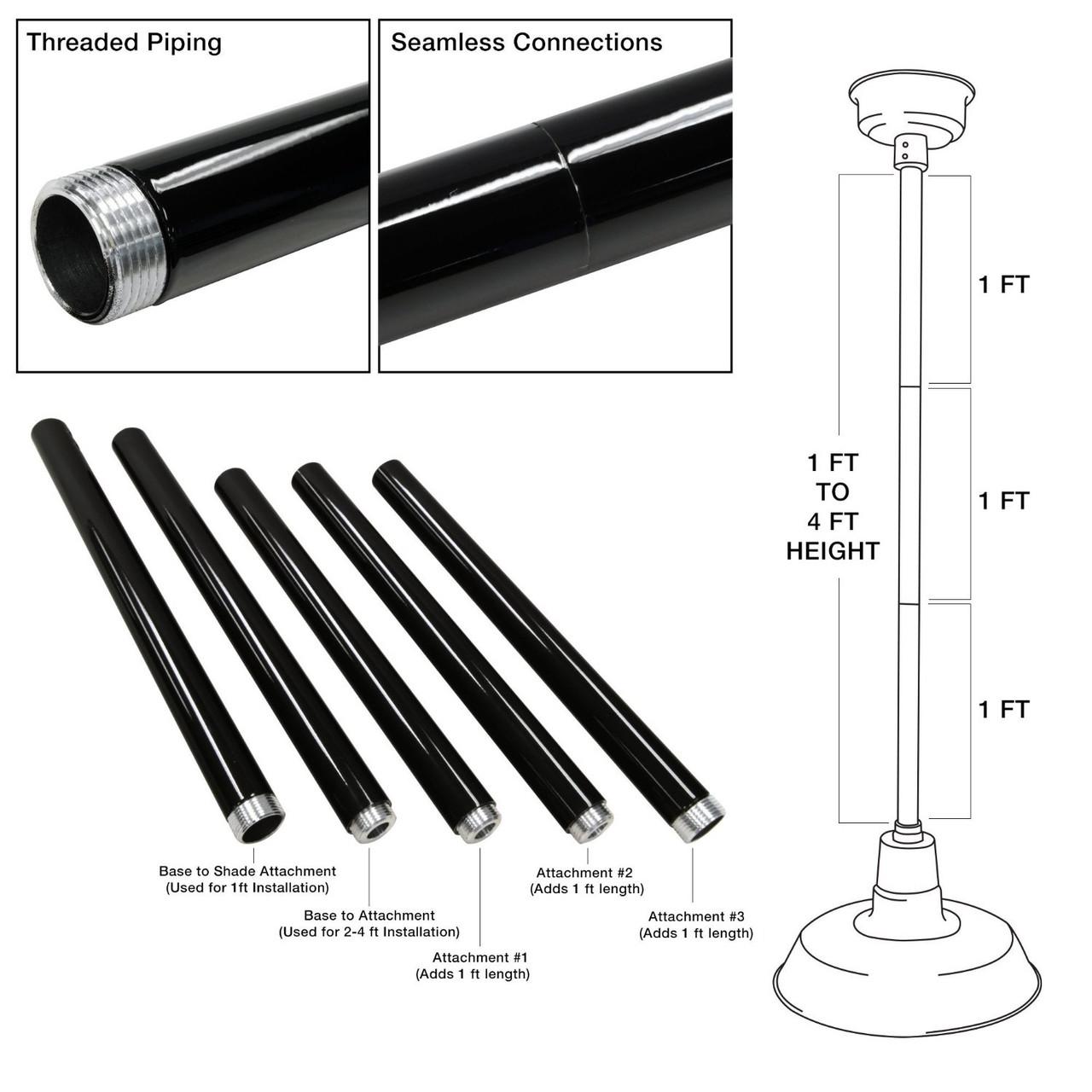 Customizable Peony Indoor Led Barn Pendant Light G24 Wiring Diagram 1 Ft To 4 Height Adjustment Bars