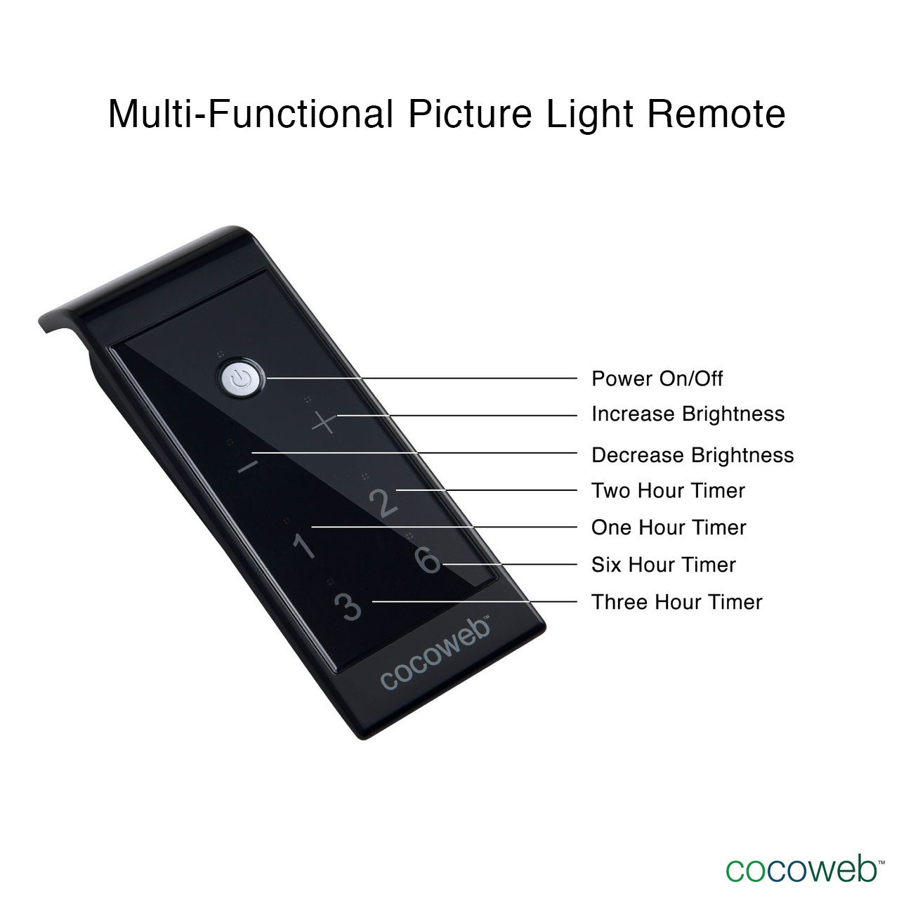 Customizable Classic Led Picture Light Cocoweb Inc Three Hour Timer Multi Functional Remote
