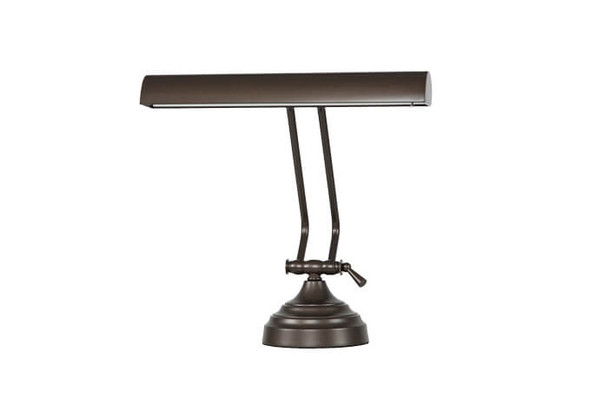 """Front View of 12"""" Mahogany Bronze Dimmable Piano Desk Lamp"""