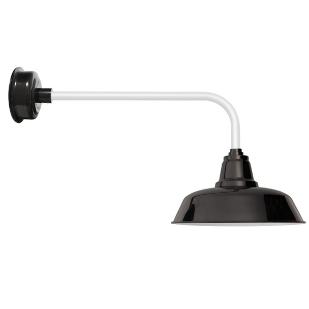 "Traditional Black & White 14"" Goodyear LED Barn Light"