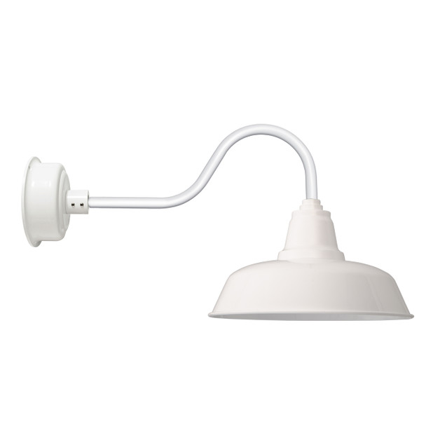 """Contemporary 14"""" Goodyear White Indoor/Outdoor LED Barn Lights"""