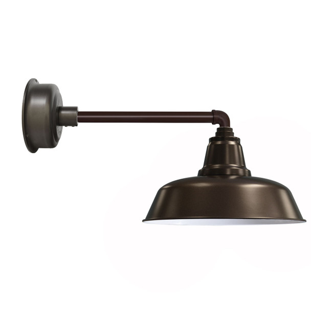 "14"" Mahogany Bronze Metropolitan Goodyear Indoor/Outdoor LED Barn Lights"