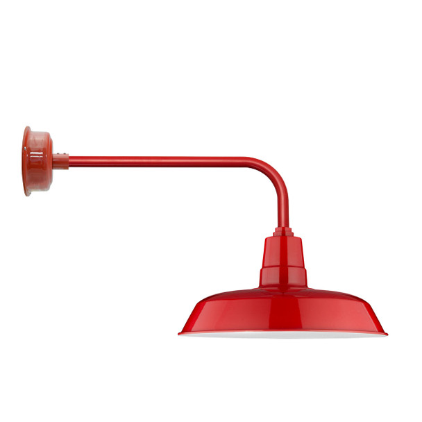 "Traditional 16"" Oldage Indoor/Outdoor Cherry Red Barn Light"