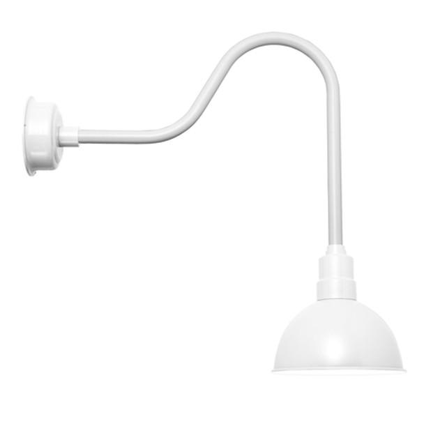 """Blackspot White 10"""" Sleek Indoor/Outdoor LED Barn Light"""