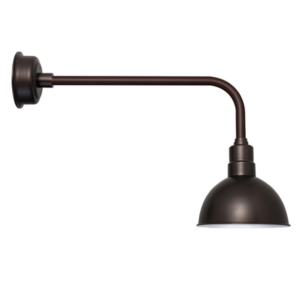 "10"" Mahogany Bronze Blackspot Traditional Indoor/Outdoor LED Barn Lights"