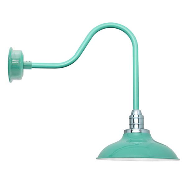 """10"""" Peony Sleek Jade LED Barn Lights"""