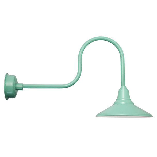 "Industrial 16"" Calla Jade Indoor/Outdoor LED Barn Light"