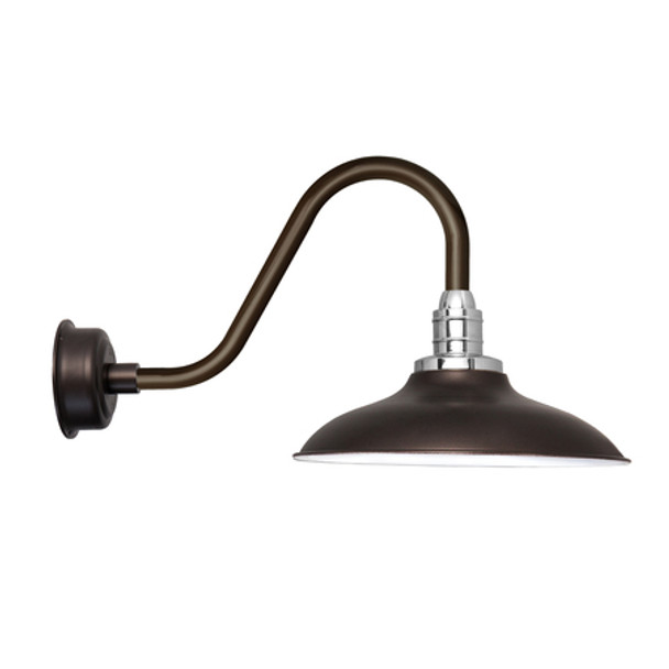 "12"" Rustic Mahogany Bronze Peony Indoor/Outdoor LED Barn Lights"