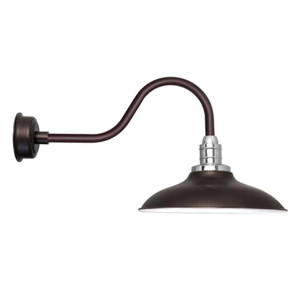 """12"""" Mahogany Bronze Peony Contemporary LED Barn Lights"""