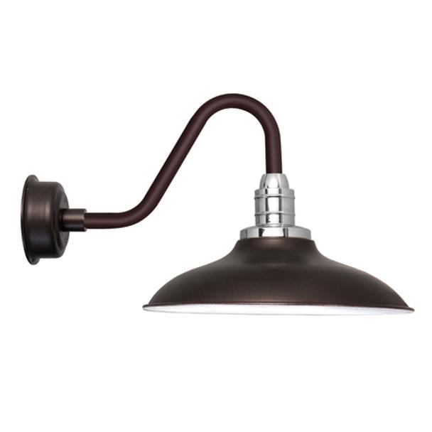 """Vintage 12"""" Mahogany Bronze Peony LED Barn Lights"""